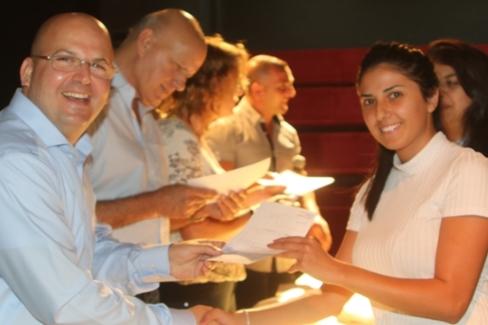 صور من حفل توزيع المنح الدراسية من شركة انرجكس على طلاب من الجولان